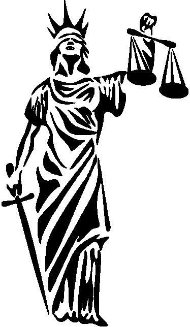 vinilo decorativo simbolo de la justicia