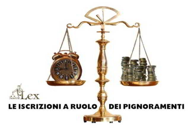 iscrizione a ruolo dei pignoramenti con bilancia giustizia