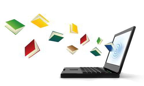 libri che escono dal monitor del pc