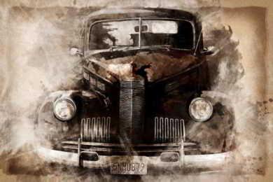 sosta autoveicolo vintage
