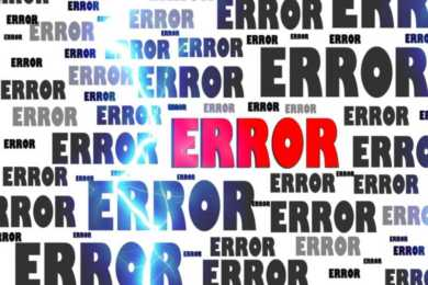 scritte ripetute error