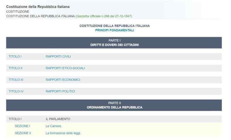schermata ricerca strutturato leggi gazzetta ufficiale