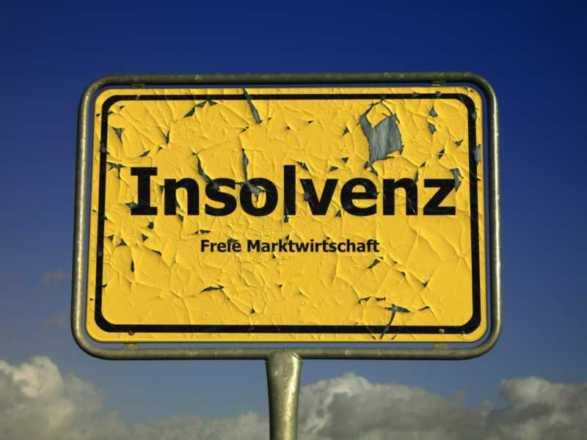 cartello con scritto insolvenz