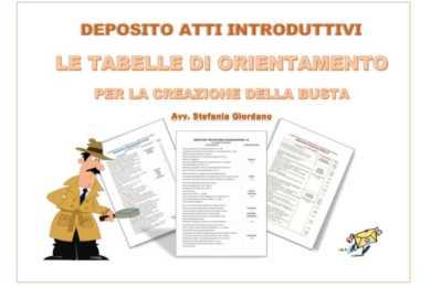 investigatore con tabelle codici iscrizione a ruolo