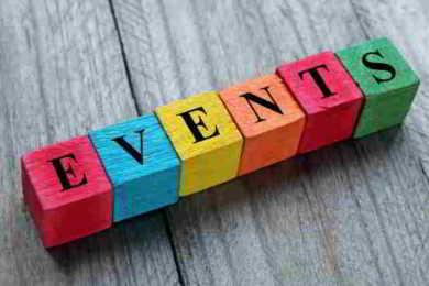 cubi con scritta event
