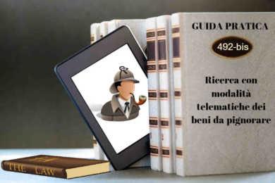 investigatore e libri su art. 492bis