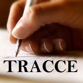 mano con penna che scrive e scritta tracce