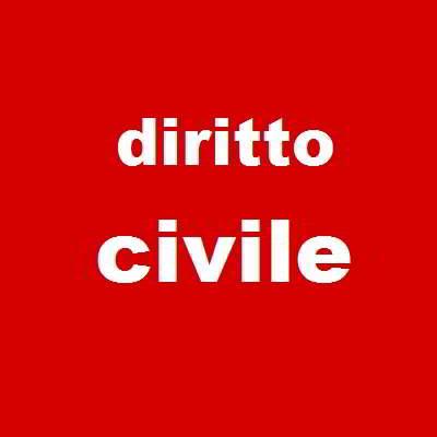 scritta diritto civile dentro un quadrato rosso