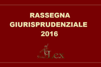 scritta rassegna giurisprudenziale 2016 con logo nostralex