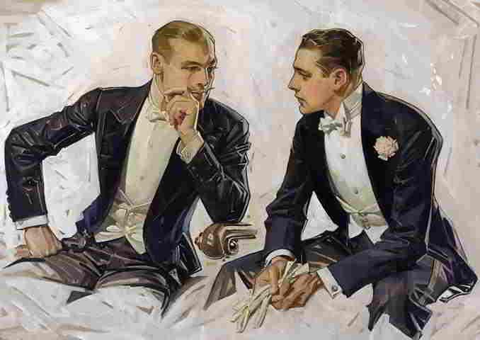disegno di due gentleman's che parlano