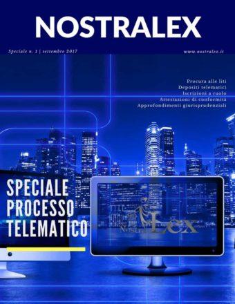 speciale processo telematico cover rivista nostralex