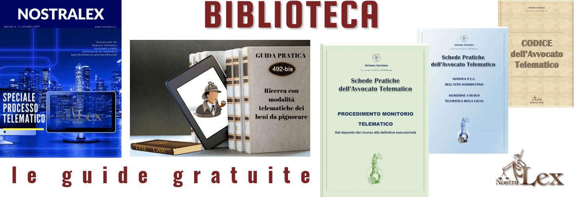 biblioteca nostralex cinque guide gratuite telematiche