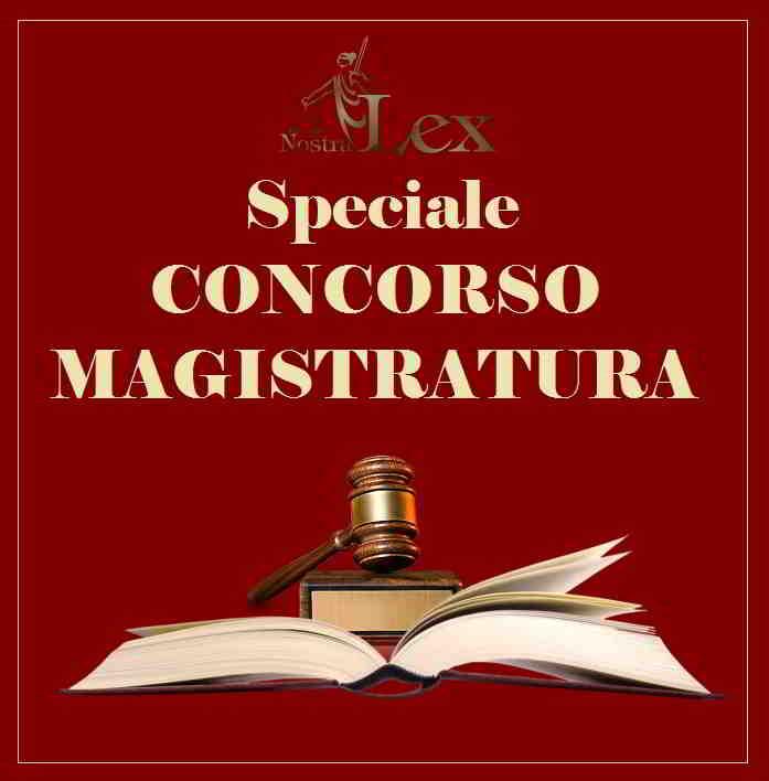 libro aperto con martelletto giudice e scritta speciale concorso magistratura